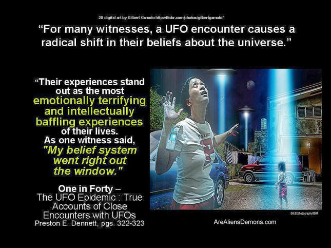 UFOs and effect on people